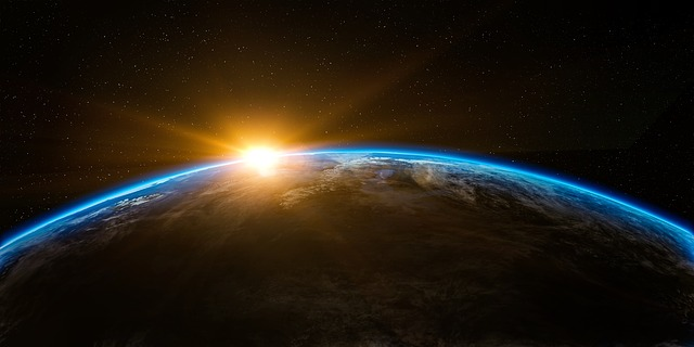 A picture of a sunrise over Earth from space in an article about knowing your Creator on the Church of Christ Santa Clara SCCOC Truthseekers website
